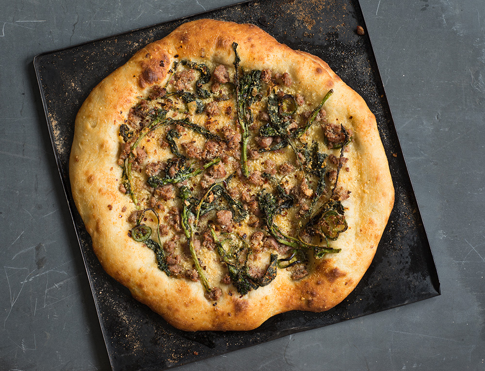 Pizza with Broccoli Rabe & Sausage - Andy Boy