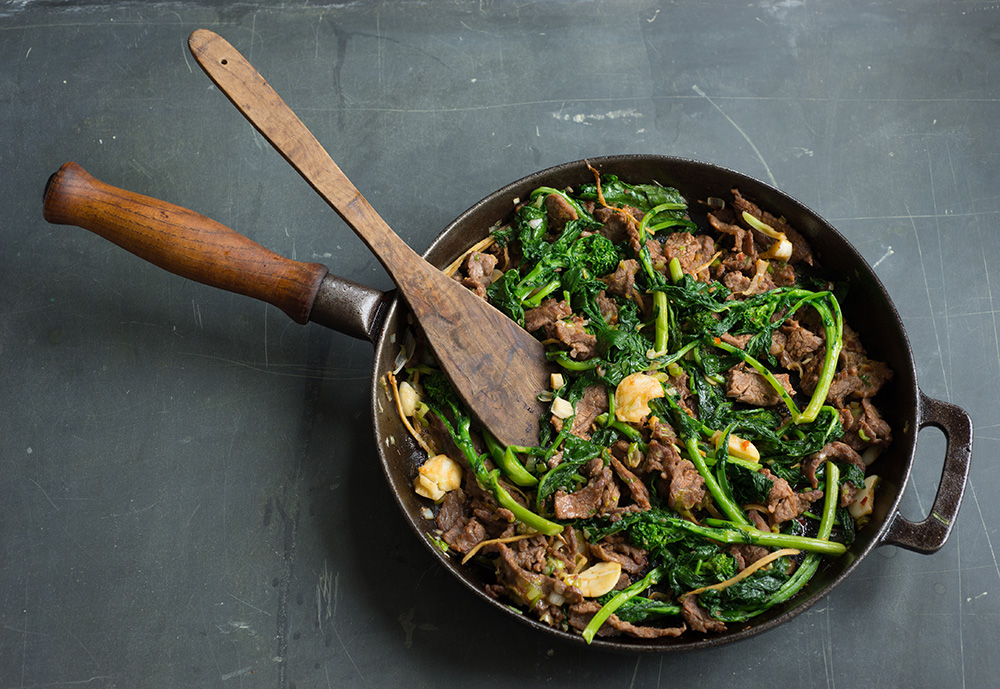 Beef and Broccoli Rabe Quick-Fry - Andy Boy