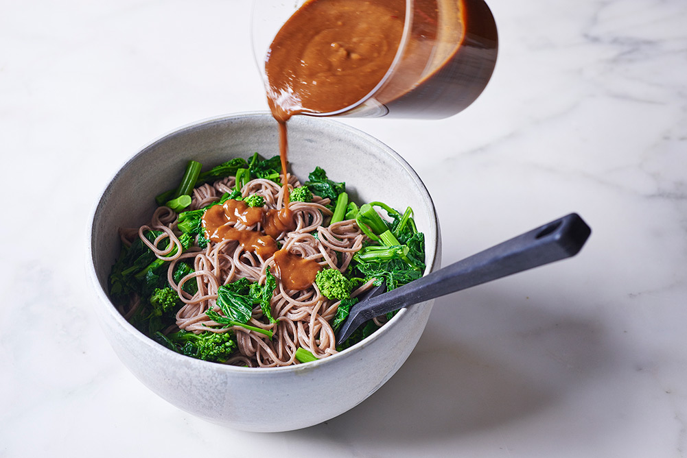 Broccoli Rabe Peanut Soba Noodles - Andy Boy