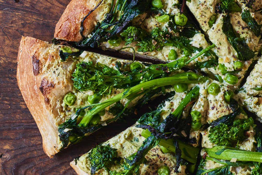 Andy Boy Broccoli Rabe Green Ricotta Skillet Pizza