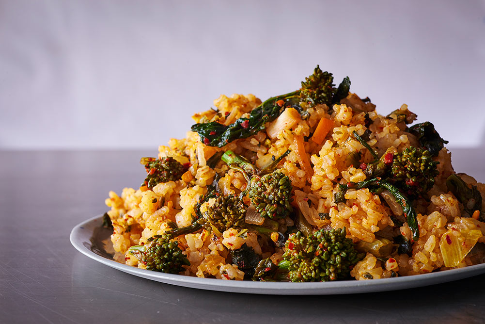 Andy Boy Broccoli Rabe Kimchi Fried Rice