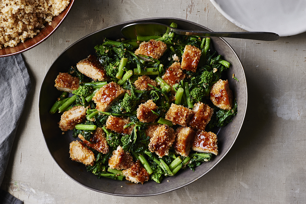 garlic-sesame-broccoli-rabe-panko-crusted-chicken-andyboy