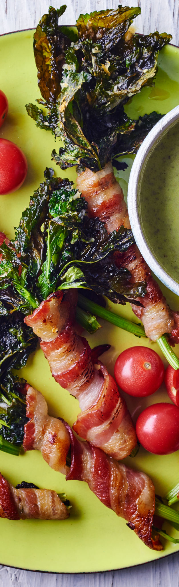 Bacon Wrapped Broccoli Rabe