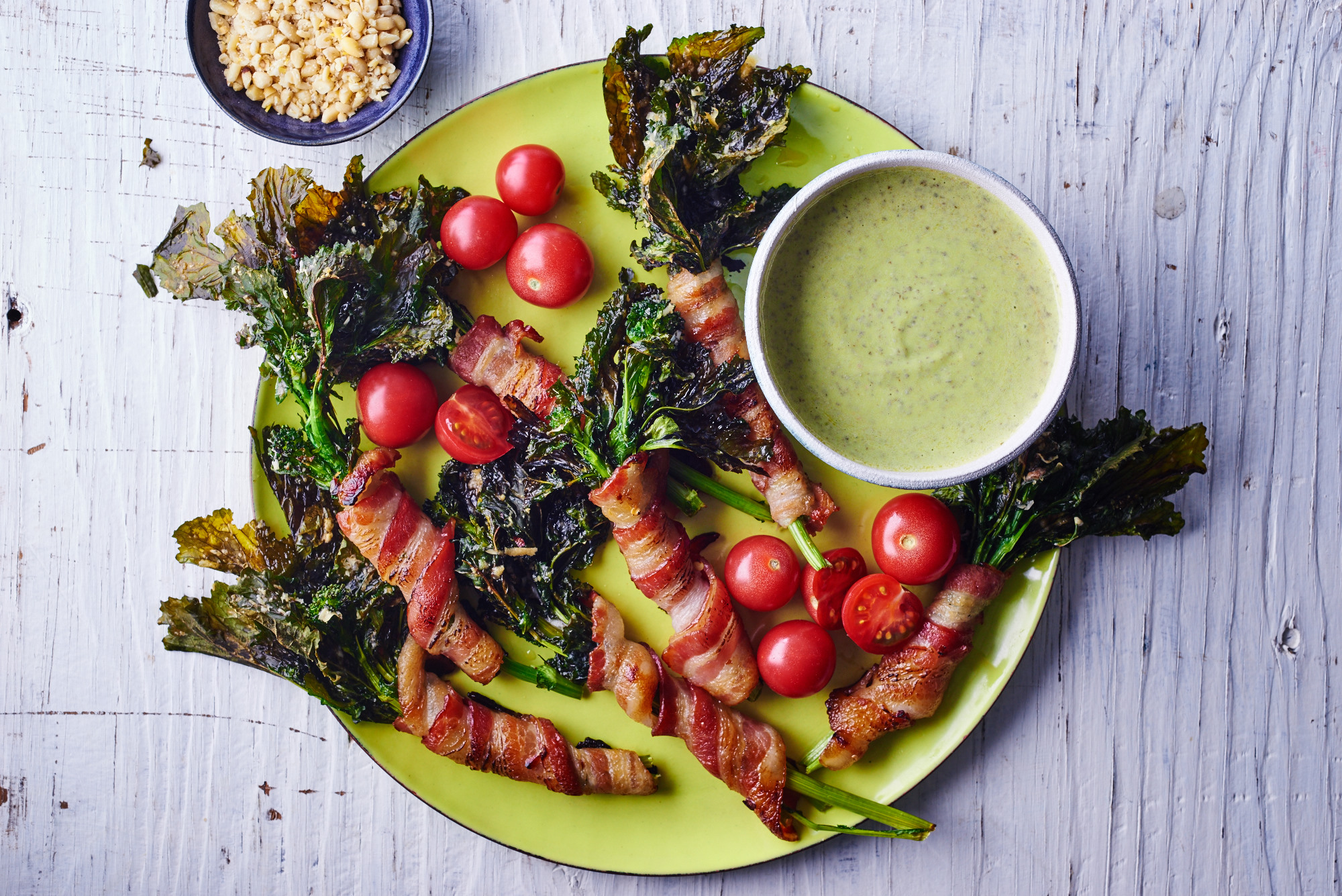 Bacon Wrapped Broccoli Rabe Platter
