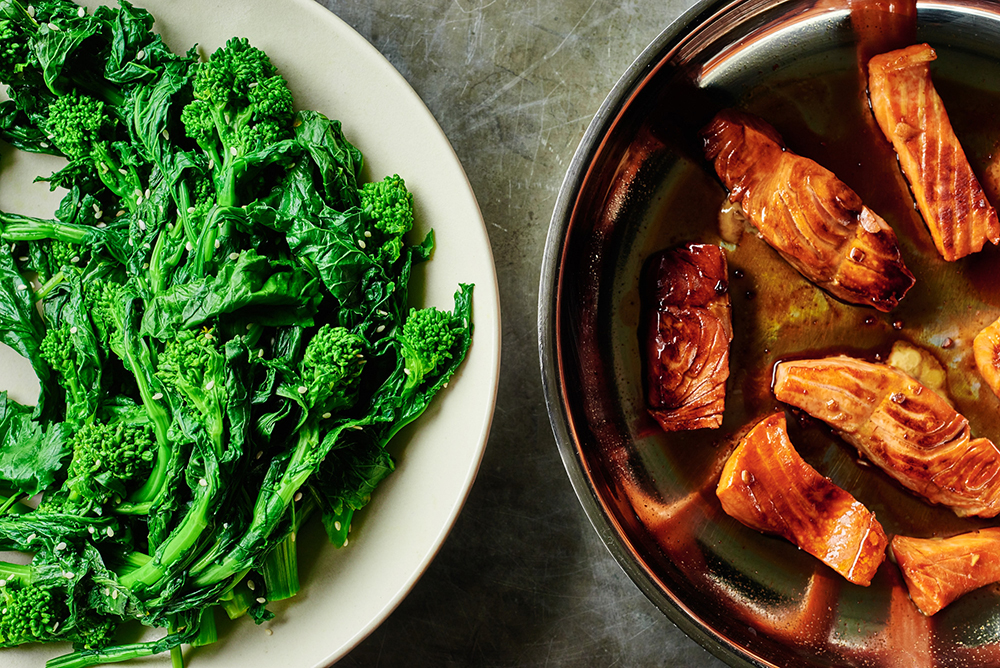 Broccoli Rabe and Salmon
