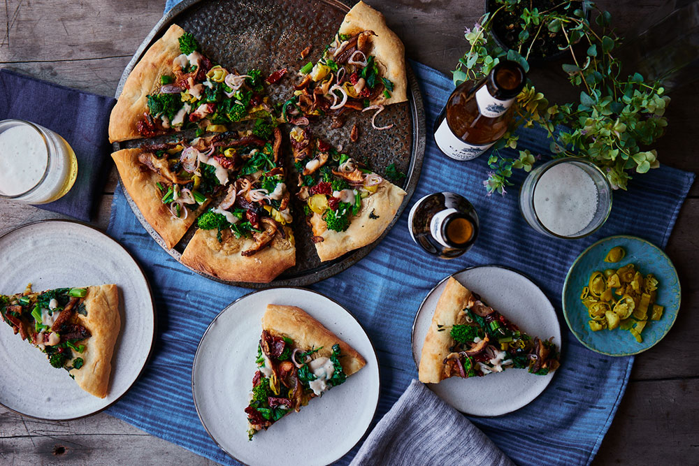 Spicy White Pizza with Broccoli Rabe