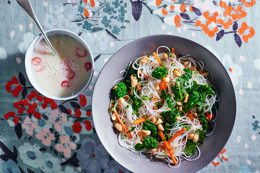 Broccoli Rabe Rice Noodle Salad