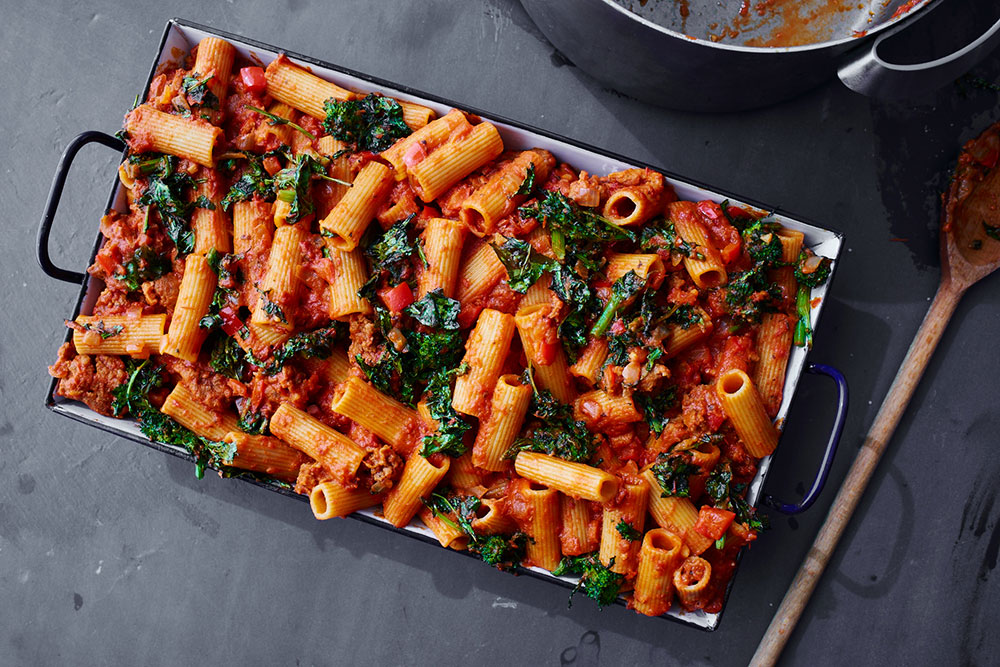 Broccoli Rabe and Rigatoni Bake