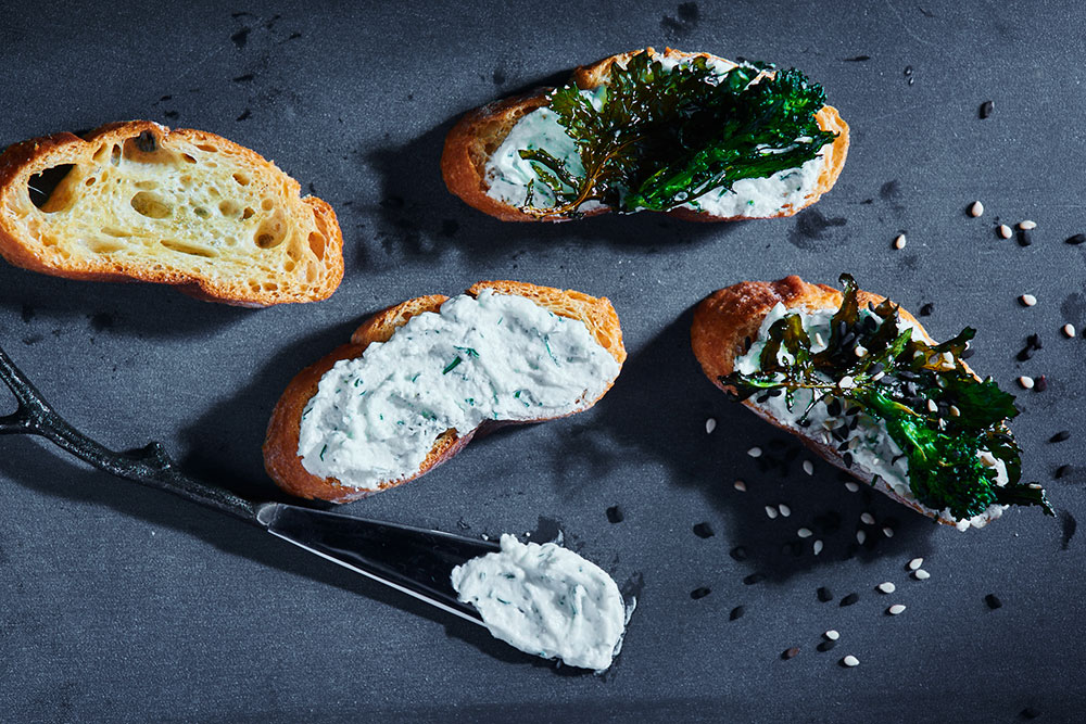 Broccoli Rabe Sesame Crostini