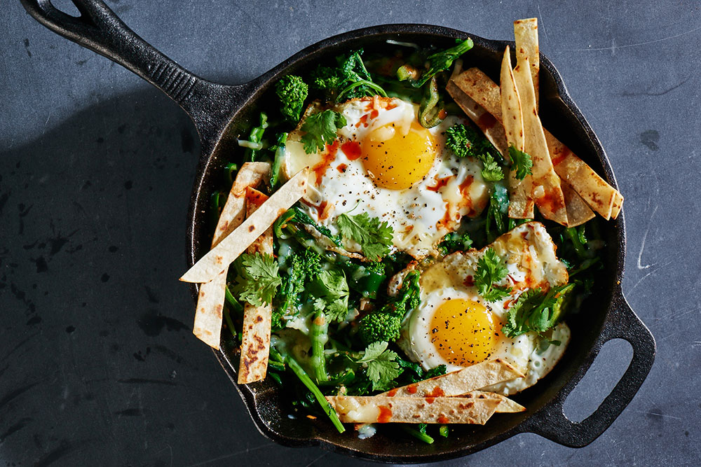 Broccoli Rabe Mexican Skillet Breakfast
