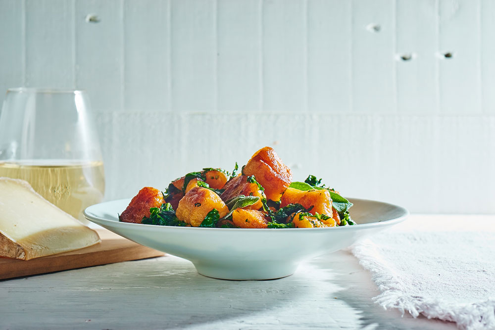 Broccoli Rabe with Sweet Potato Gnocchi