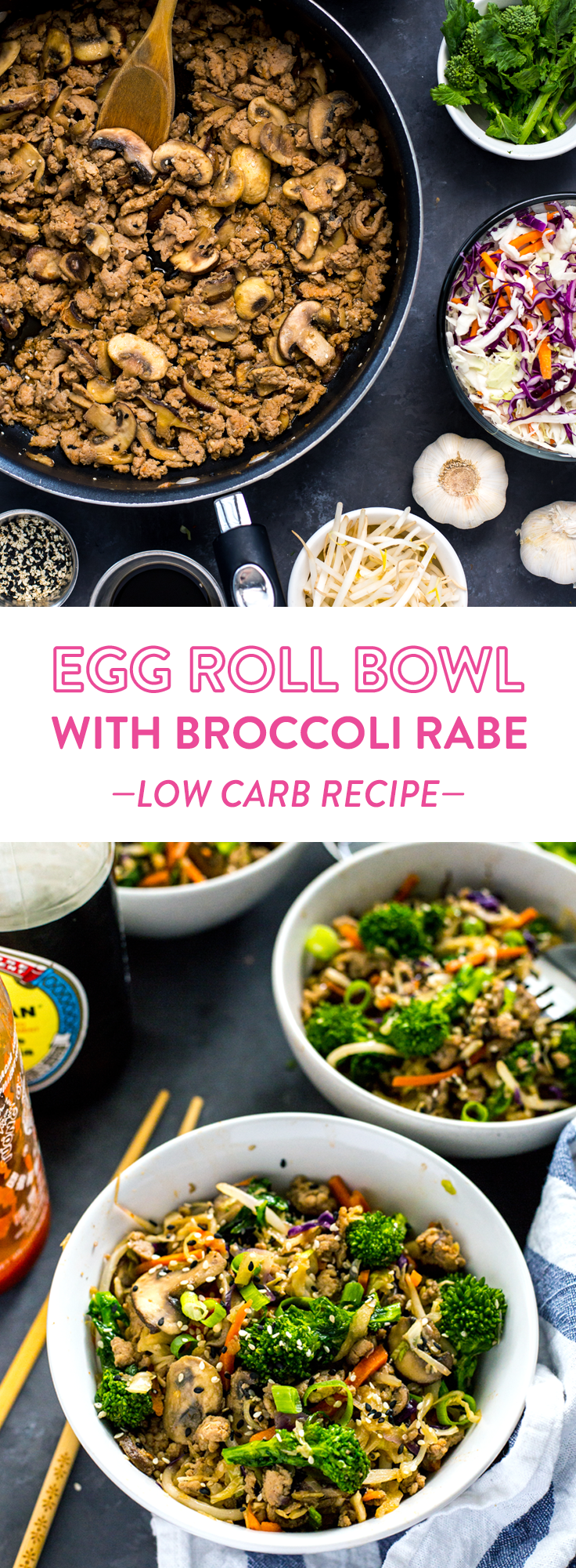Egg Roll Broccoli Rabe Bowl Pinterest