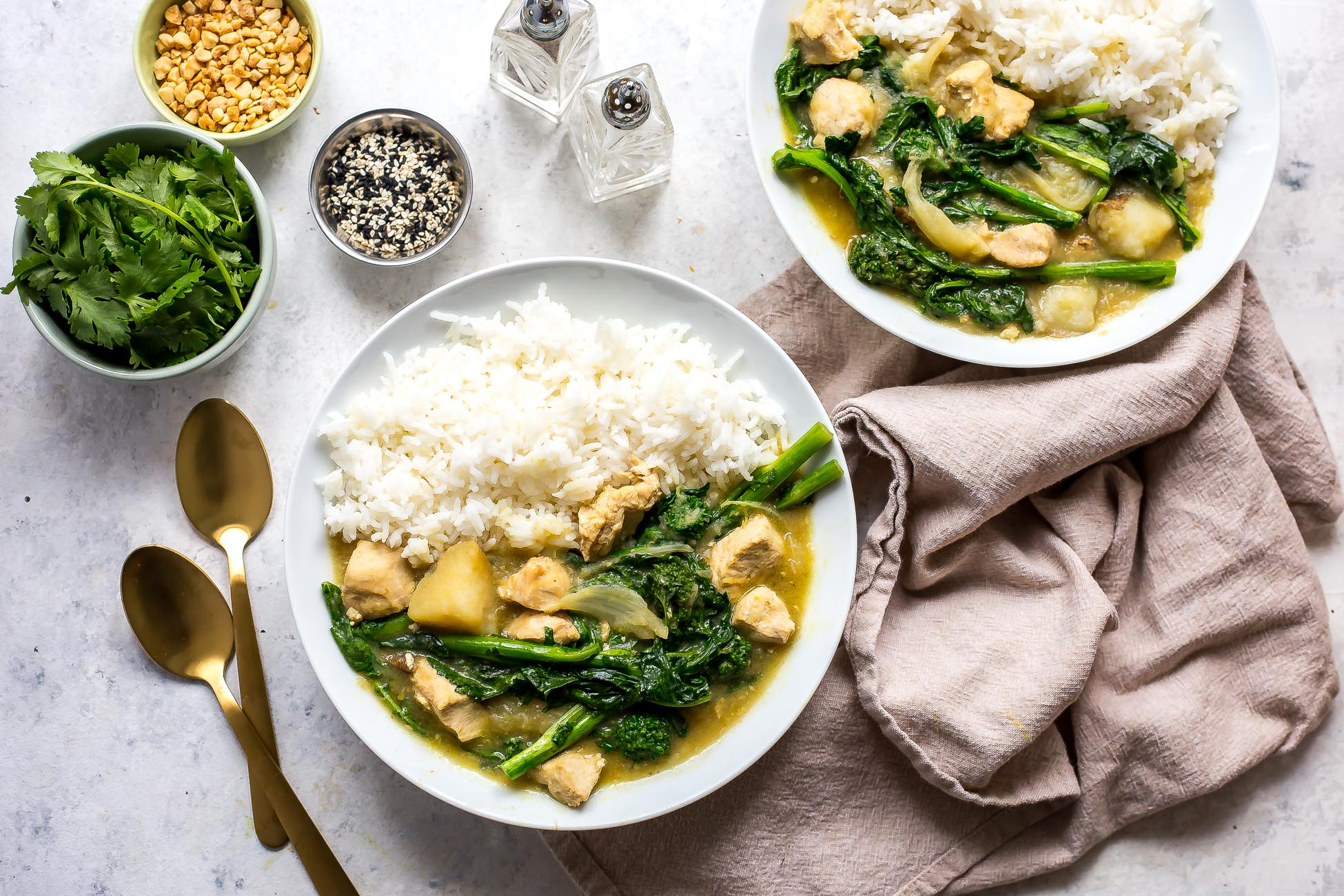 green-thai-curry-rapini-chicken-instant-pot