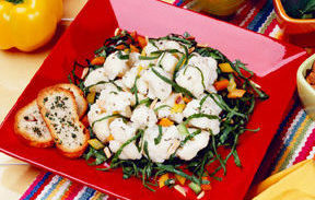 Cauliflower Confetti Spinach Salad