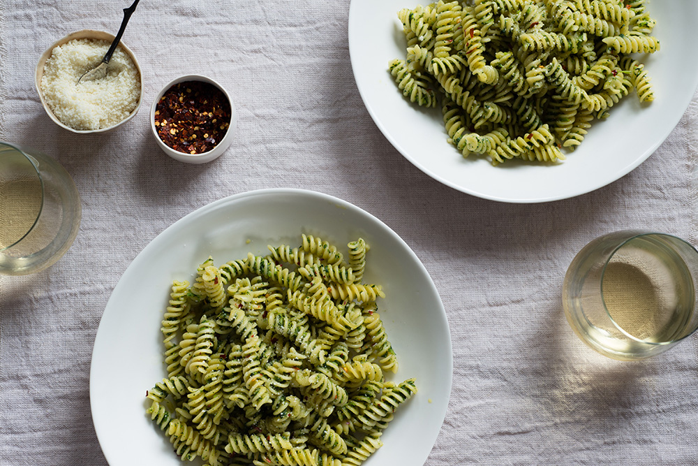 Pasta with Broccoli Rabe Pesto and Pecorino