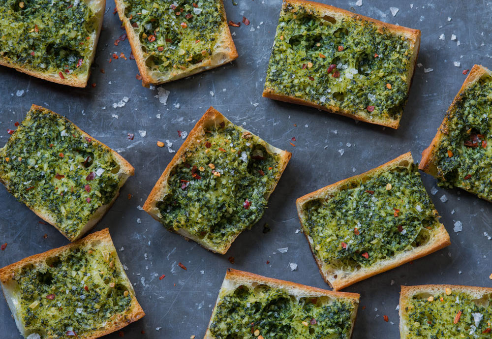 Broccoli Rabe Garlic Bread