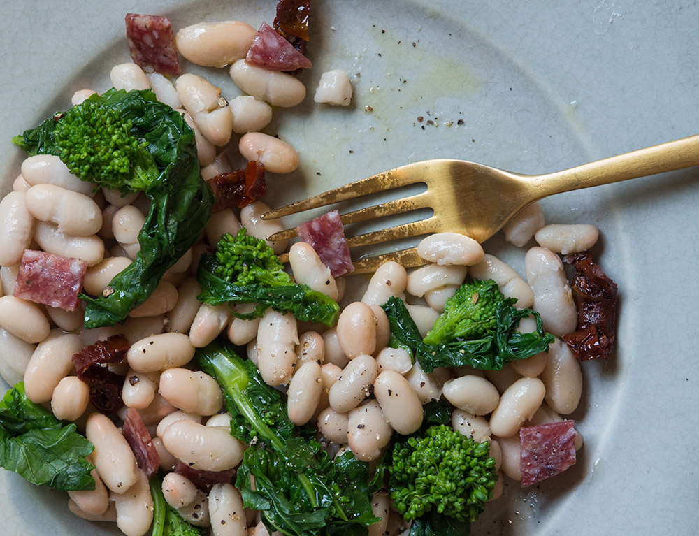 Broccoli Rabe, White Bean and Finocchiona Salad