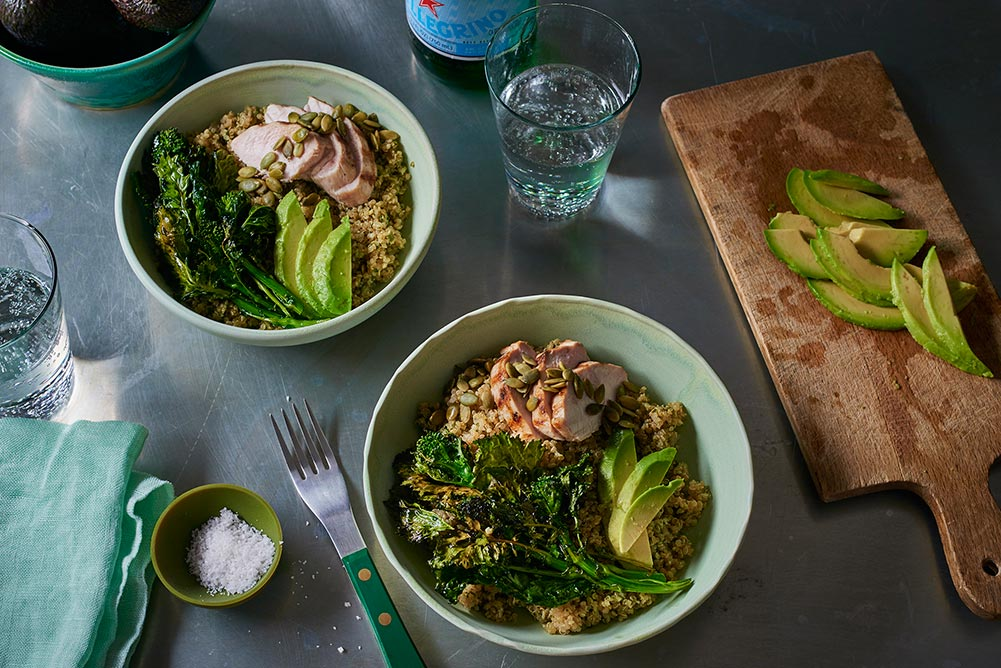 roasted-chicken-broccoli-rabe-bowl