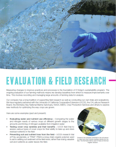farm-water-conservation-and-protecion-evaluation-research