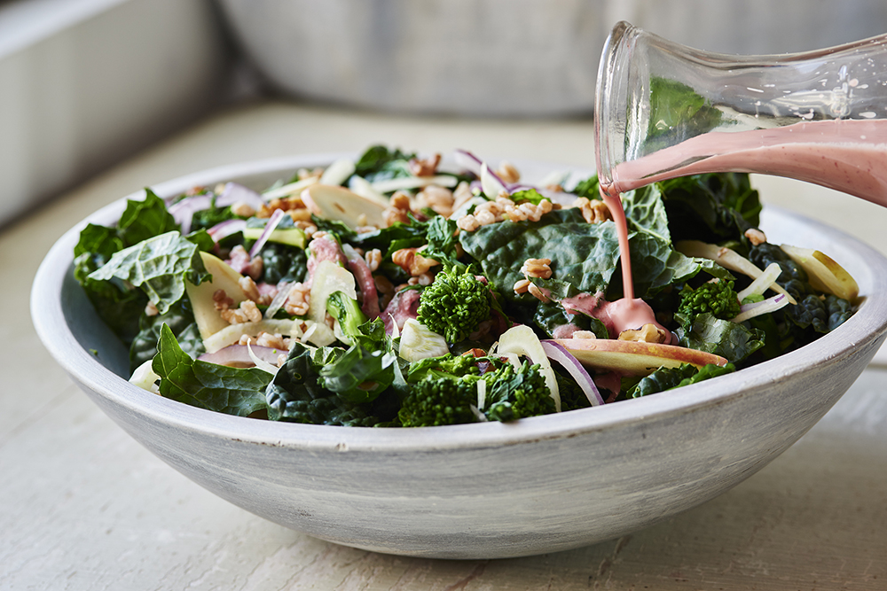 Broccoli Rabe and Kale Harvest Salad