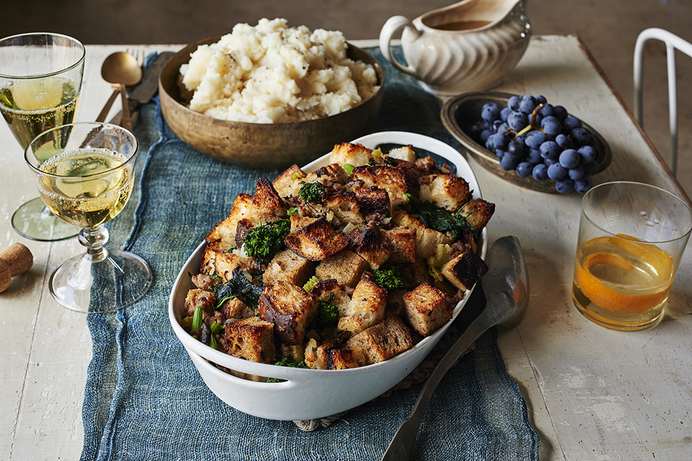 Broccoli Rabe and Sausage Stuffing