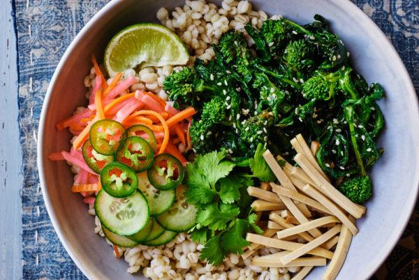 seared-sesame-broccoli-rabe-banh-mi-barley-bowl