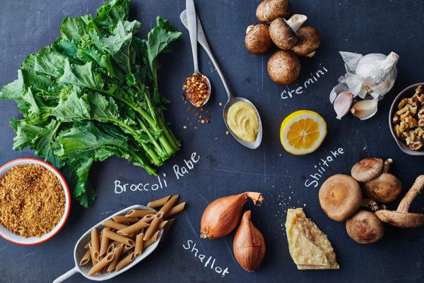 ingredients-shiitake-penne-pasta-broccoli-rabe-andy-boy