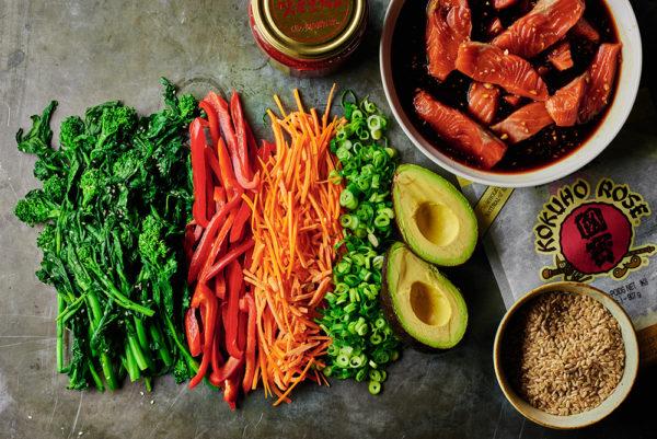broccoli-rabe-maple-glazed-salmon-bibimbap-andyboy