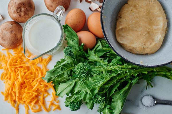 ingredients-broccoli-rabe-mini-quiches-cheddar
