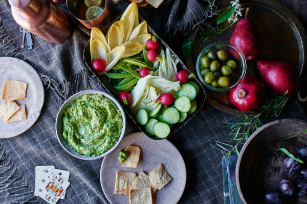 Broccoli Rabe Pesto Hummus