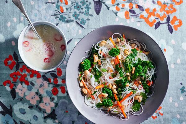 rice-noodle-salad-broccoli-rabe