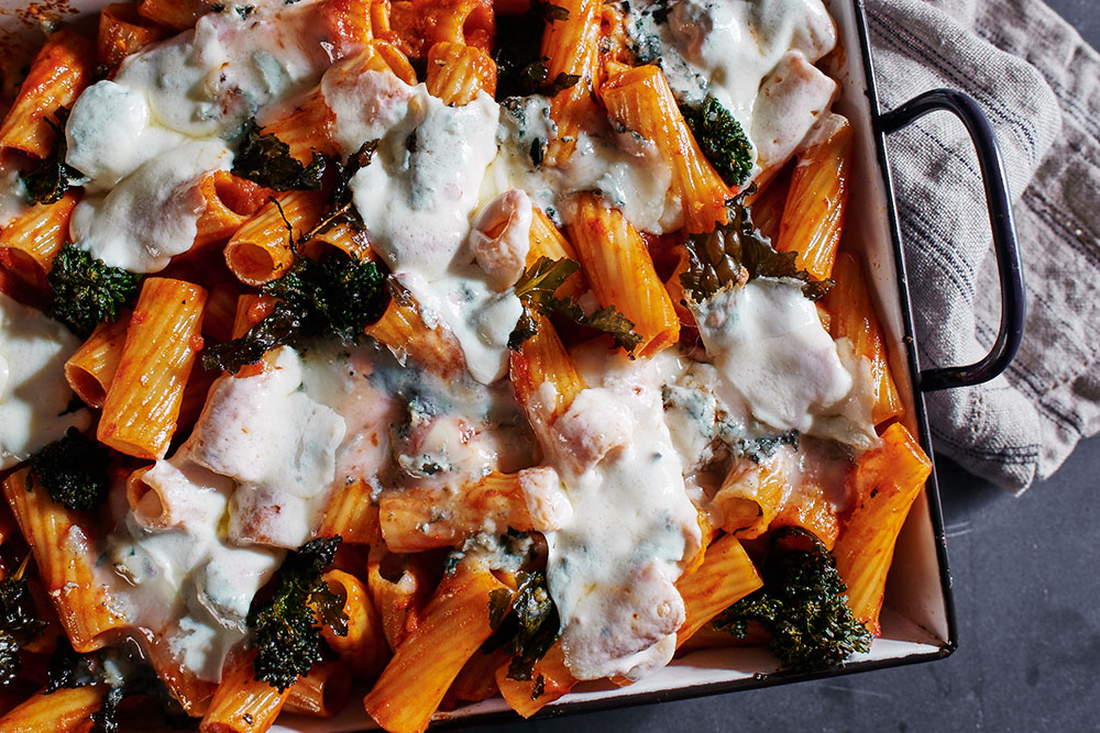 Rigatoni and Broccoli Rabe Bake