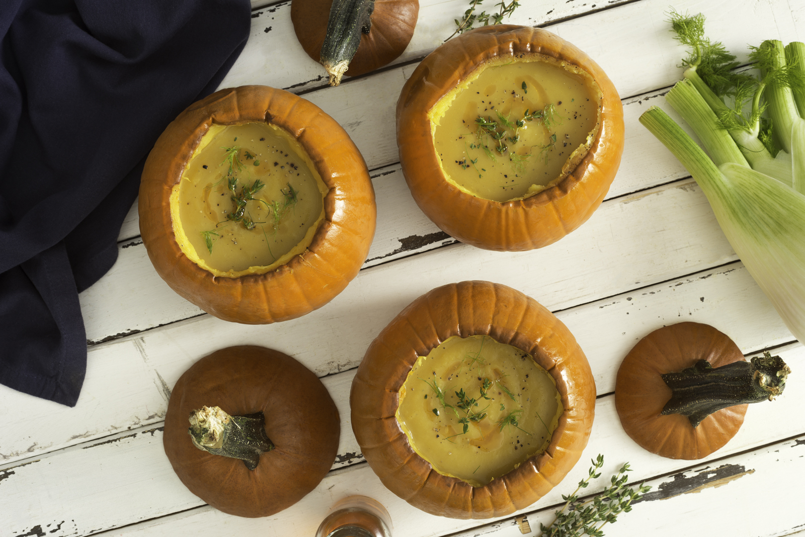 Pumpkin and Fennel Soup with Chili Oil