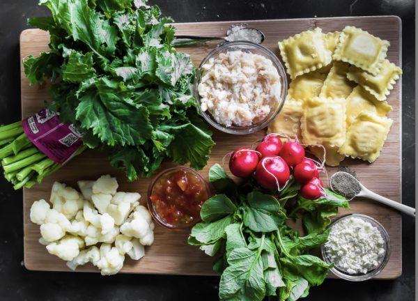 ingredients-ravioli-chili-crab-salad-rabe