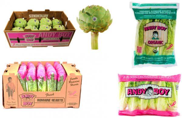 Cartons with BCRF pink ribbon
